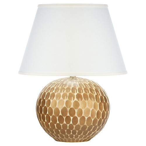 Sylvan Table Lamp, Gold Leaf