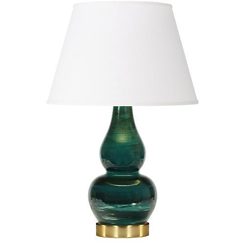 Eureka Table Lamp, Malachite