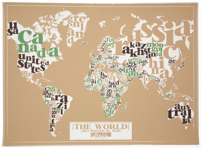 Type Map Print, Safari