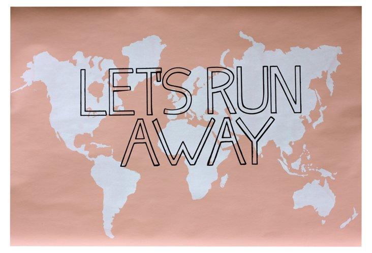 Let's Run Away Print, Pink