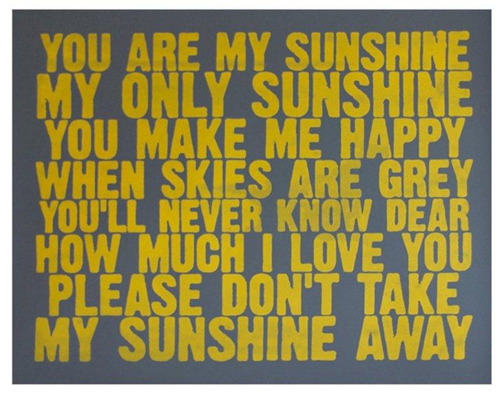 You Are My Sunshine Print, Yellow