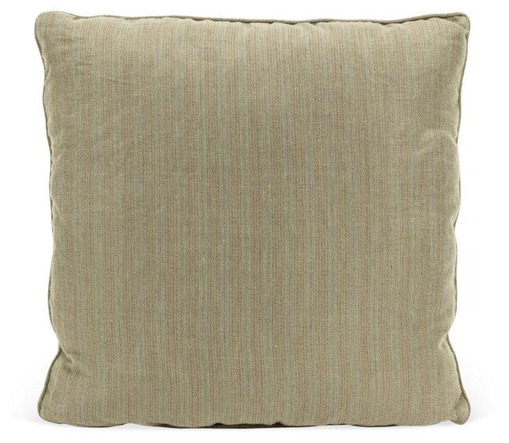 Turquoise & Brown Stripe Pillow