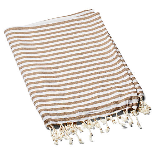Beach Candy Towel, Mocha