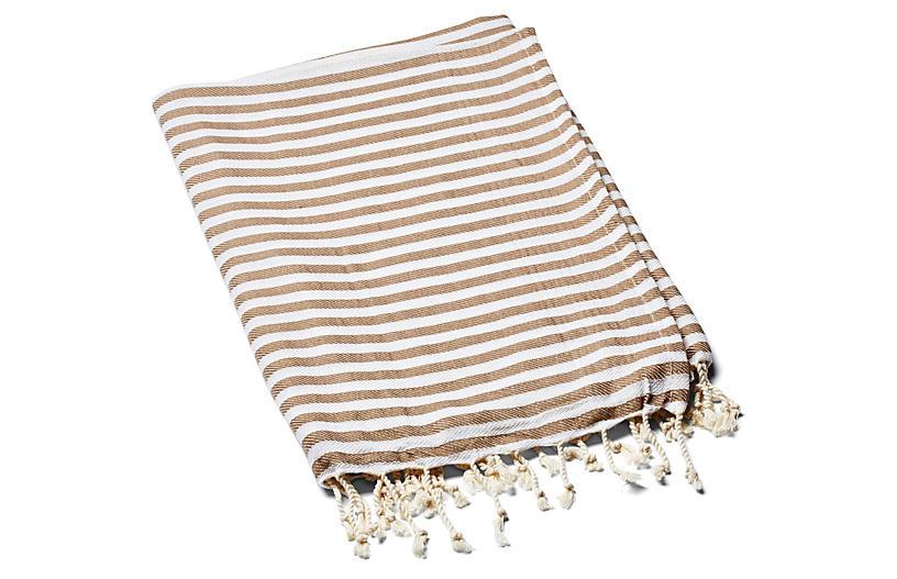 Beach Candy Towel, Mocha