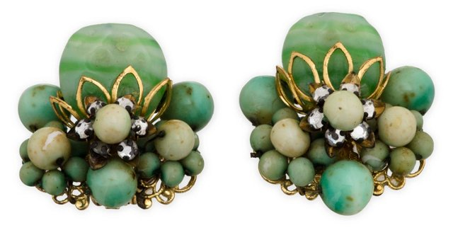 Miriam Haskell Ear Clips