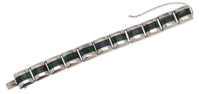 Ledesma Taxco Malachite Inlay Bracelet
