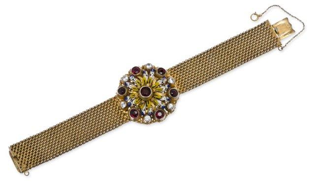 Austro-Hungarian Enamel Bracelet