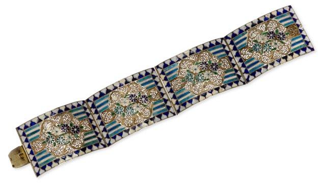 Austrian Silver Filigree Bracelet