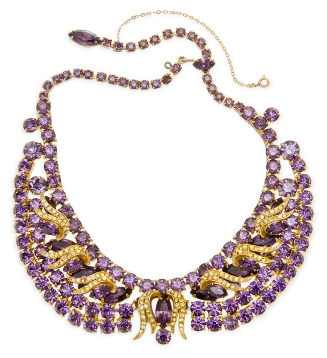 Hobe Faux-Amethyst Necklace