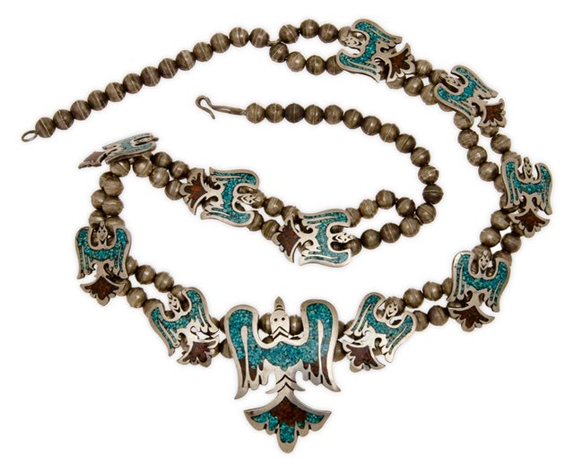 Navajo Sterling & Turquoise Necklace