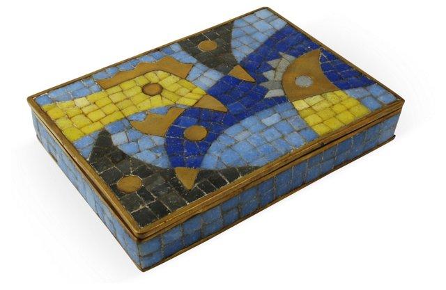 Salvador Teran Brass Mosaic Box II