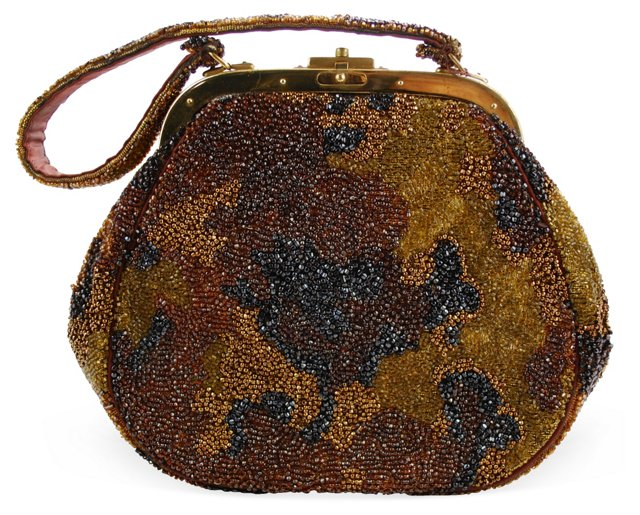 Nettie Rosenstein Hand-Beaded Bag