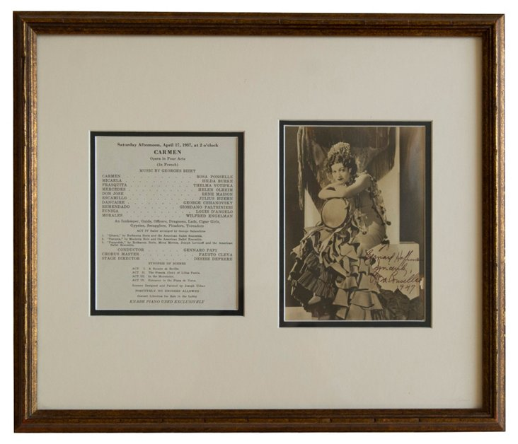 Rosa Ponselle Signed Photograph