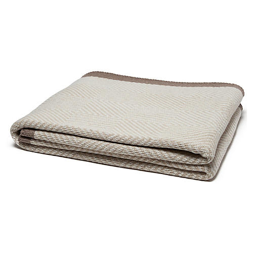 Eco Woven Square Throw, Milk