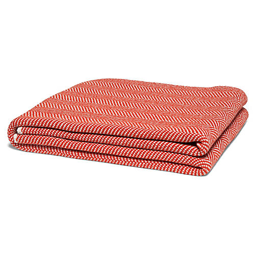 Eco Herringbone Throw, Spice