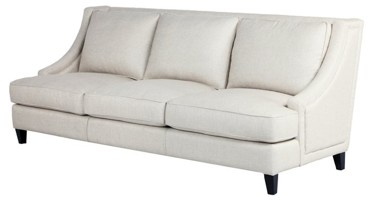 "San Juan 92"" Swoop-Arm Sofa, Off-White"