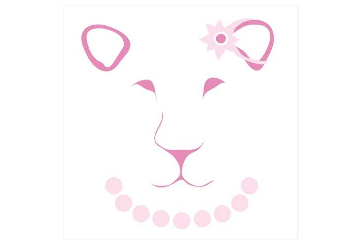 Fuchsia Lioness Face