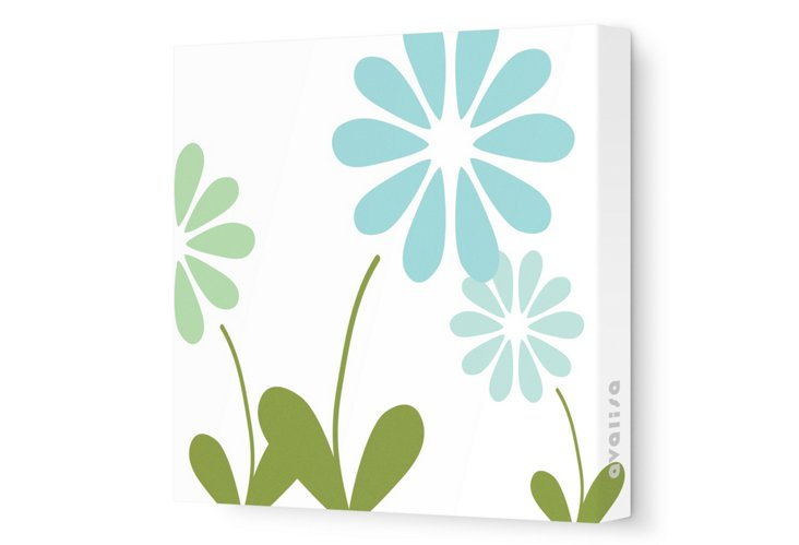 Green Simple Floral