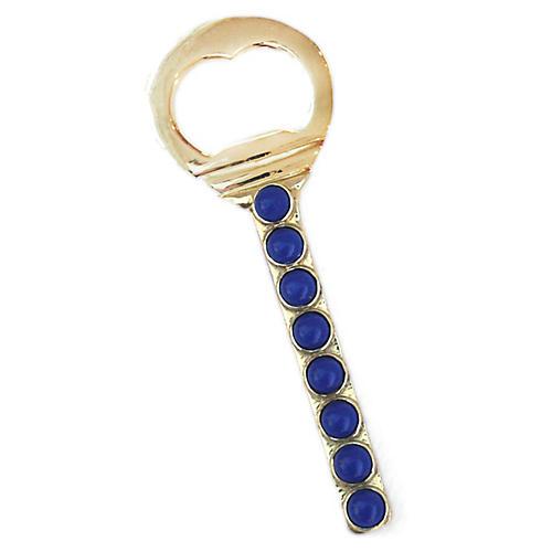 Middleton Bottle Opener, Brass/Blue