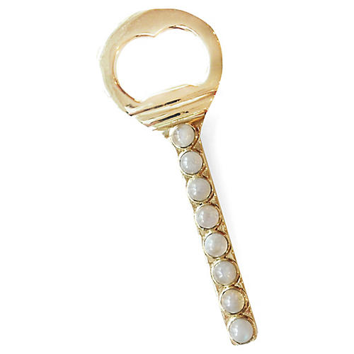 Middleton Bottle Opener, Brass/Pearl