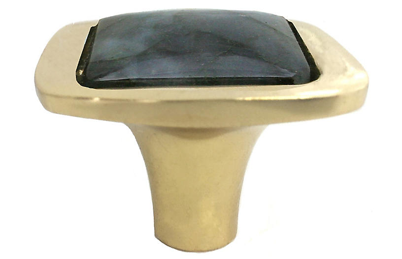 Benson Pull, Brass/Labradorite
