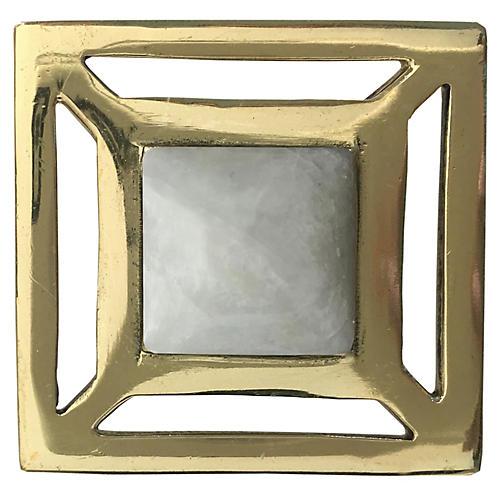 Evans Pull, Brass/Moonstone