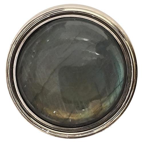 Lane Pull, Nickel/Labradorite