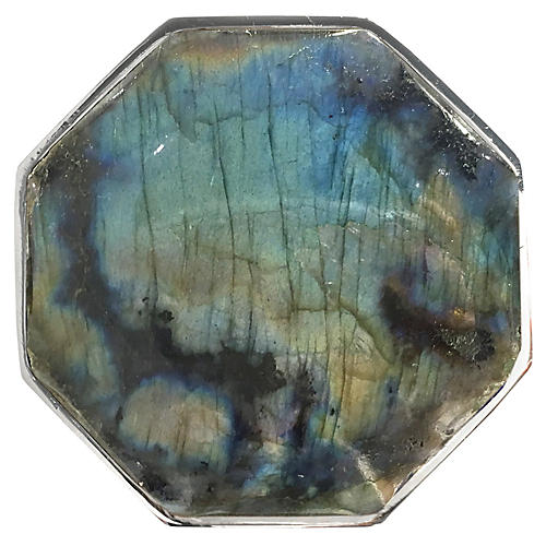 Harrison Large Pull, Nickel/Labradorite