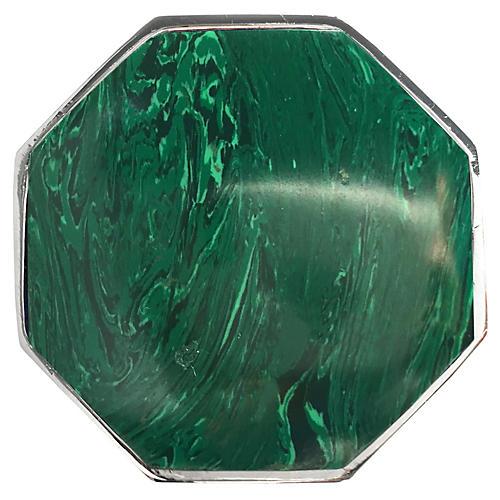 Harrison Large Pull, Nickel/Malachite