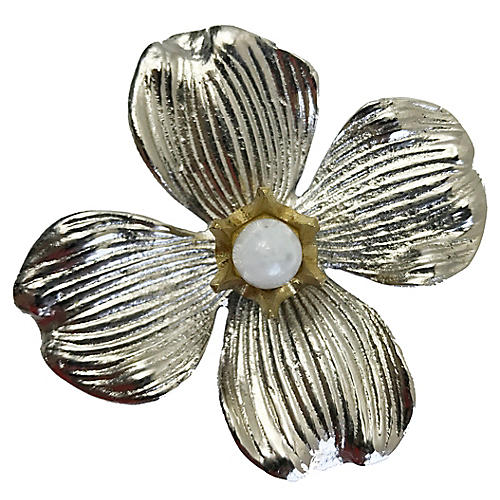 Dogwood Large Pull, Nickel/Moonstone