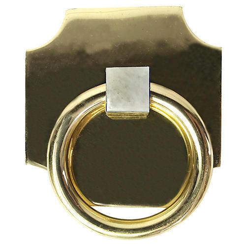 Porter Backplate Ring, Brass/Moonstone