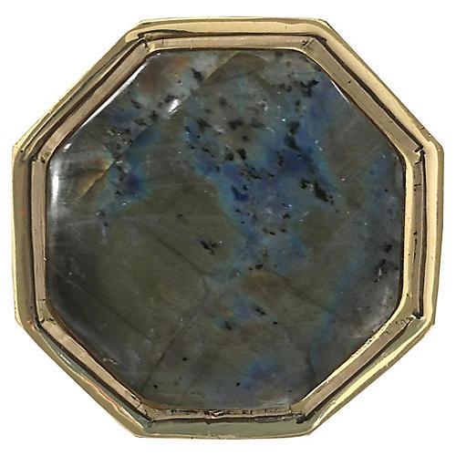 Harrison Small Pull, Brass/Labradorite