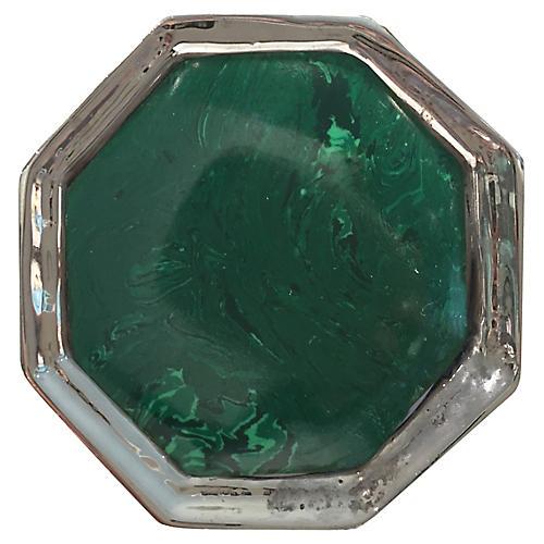 Harrison Small Pull, Nickel/Malachite