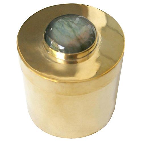 "2"" Lane Round Box, Brass/Gray"