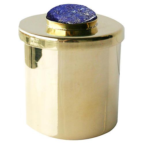 "2"" Lane Round Box, Brass/Deep Purple"