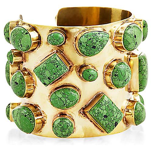 Bendall Cuff, Green/Gold