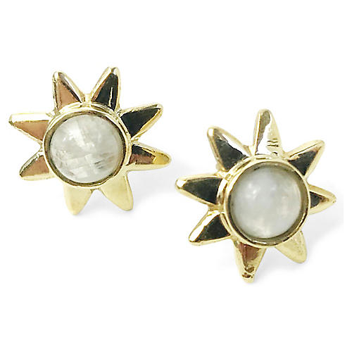 24-Kt Star Stud Earrings