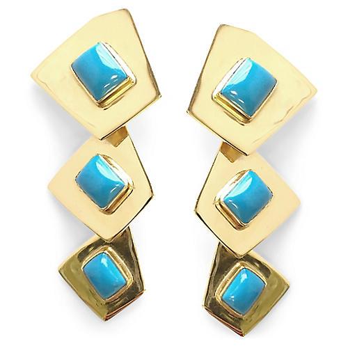 24-Kt Beam Chandelier Earrings