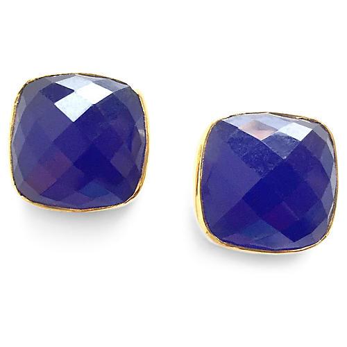 Hutchinson Stud Earrings, Sapphire