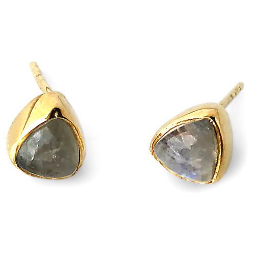 Ivy Stud Earrings, Labradorite