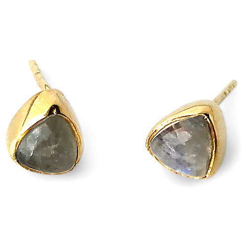 Ivy Stud Earrings, Labradorite