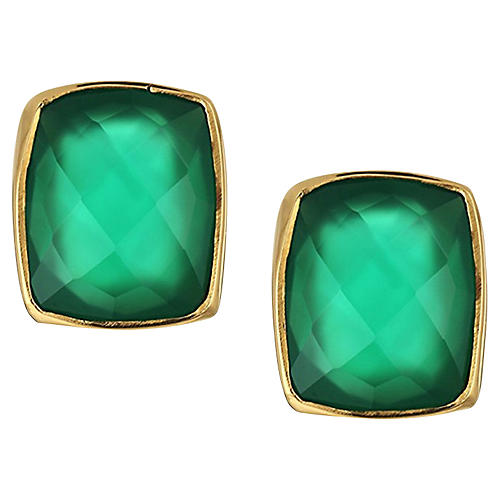Whitten Stud Earrings, Emerald