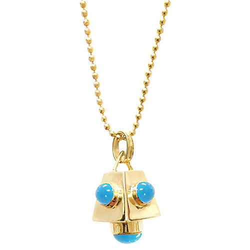 Cutchins Necklace, Blue Turquoise