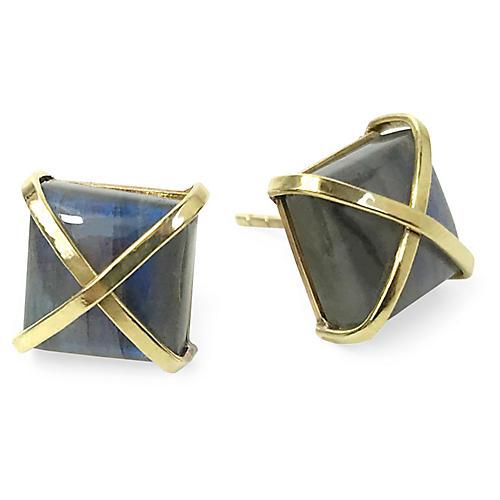24-Kt Martin Stud Earrings