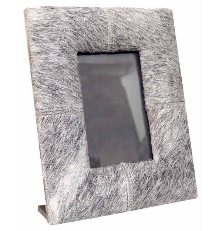 5x7 Hairon Leather Frame, Gray