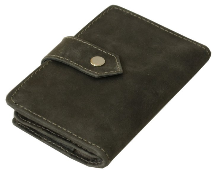 Leather Phone Cover/Wallet, Gray