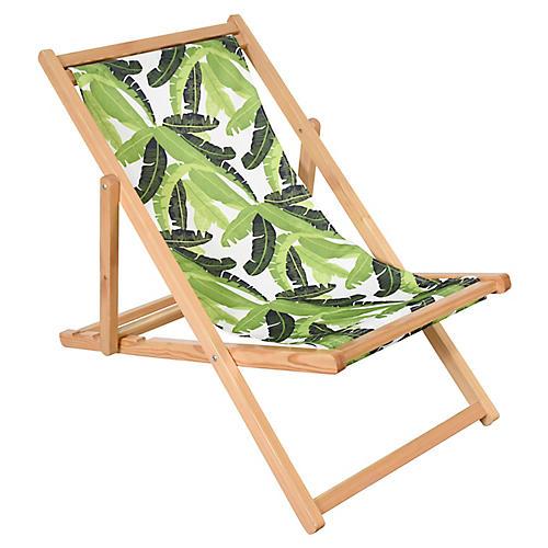 Jungle Beach Chair, Green/White