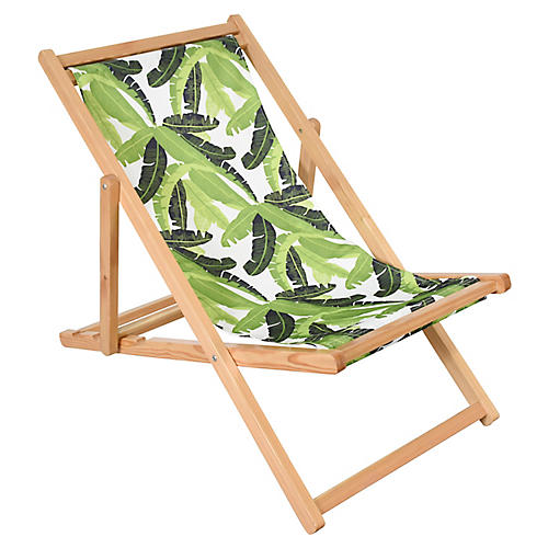 Jungle Beach Chair, Green/White