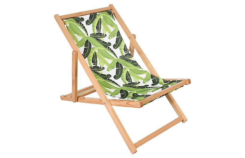 Jungle Beach Chair - Green/White - ASTELLA