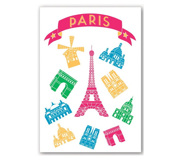 S/2 Paris Monuments Journals, Pink
